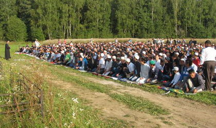 Малоярославец: празднование Ураза Байрам 2013